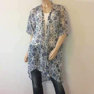 LA Hearts sheer over top shirt blouse one size